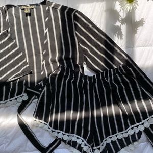 Cropped Long Sleeve and Short Set